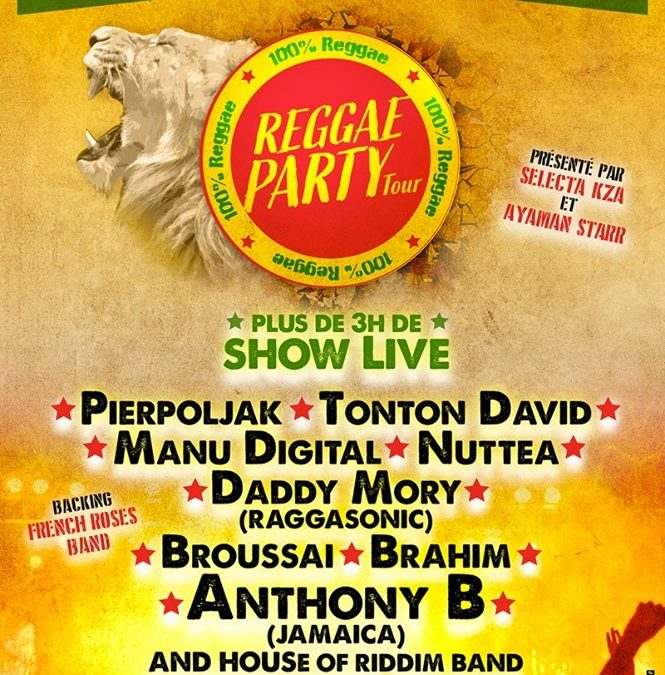Reggae Party Tour Reporté en novembre 2020